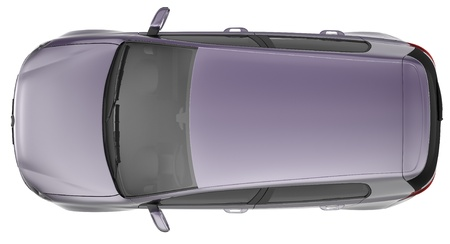 Lilac compact CAR Stock Photo