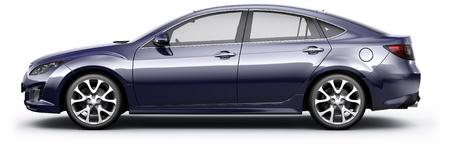 Blue Sedan car Stock Photo