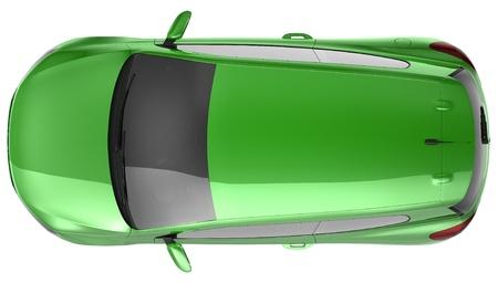 shiny car: Green compact CAR