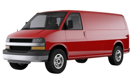 Plain red van photo