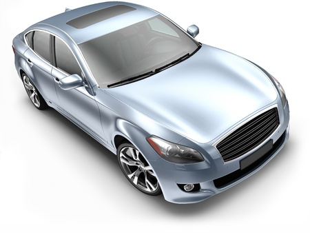 Blue luxury CAR Stock Photo - 14760028