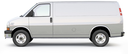 Silver Cargo Van