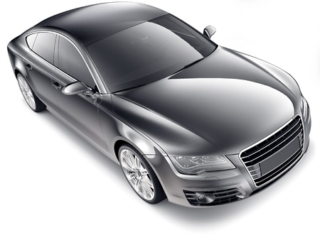 Modern black car Stock Photo - 15206470