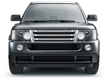 render: FRONT VIEW OF SUV CAR