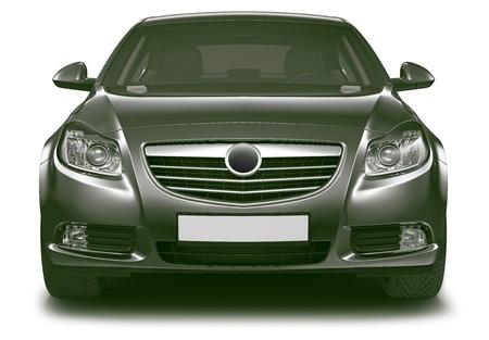 Front view of black sedan car Stock Photo - 15174053