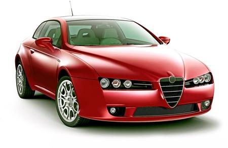 presti: Elegance prestige czerwony coupe Zdjęcie Seryjne