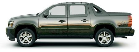 pickup truck: Camioneta Negro