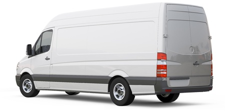 delivery van: Rear angle of cargo van car
