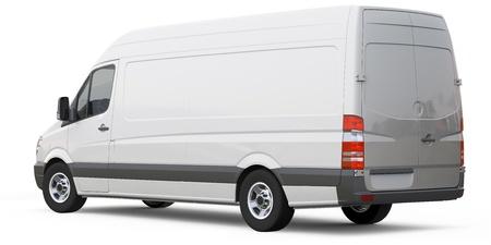 Rear angle of cargo van car