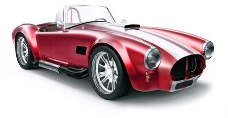 Vintage red car Imagens