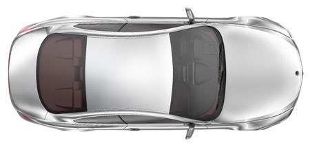 vis�o: Elegante esporte carro coupe - Top View