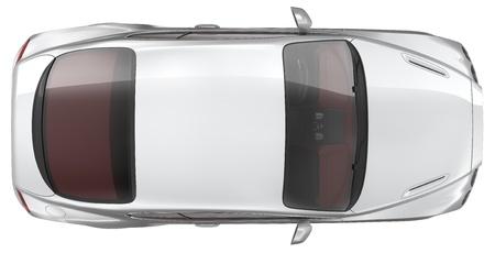 高級スポーツ クーペ車 - トップ ビュー