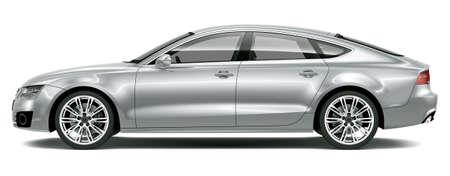 Four-door luxury car - side view