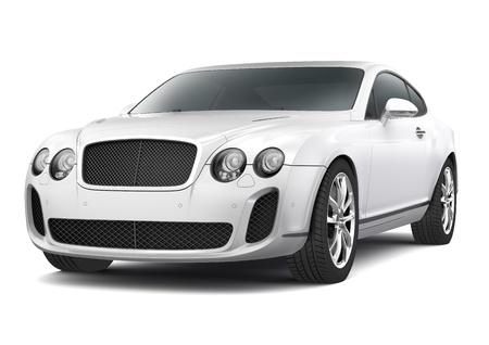 supercar: White supercar