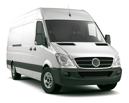 White cargo van photo