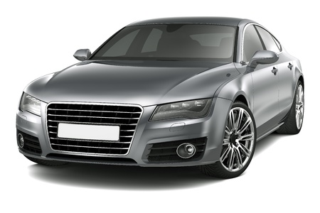 Four-door luxury car
