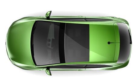 hatchback: 3-Door Hatchback - top view