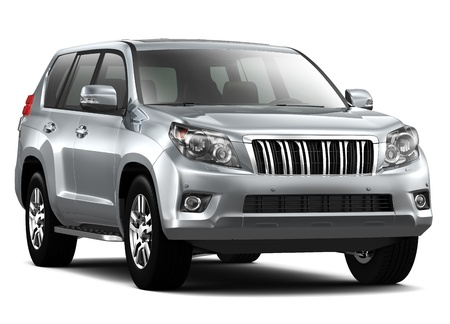Silver Luxury SUV Stock Photo - 20625251