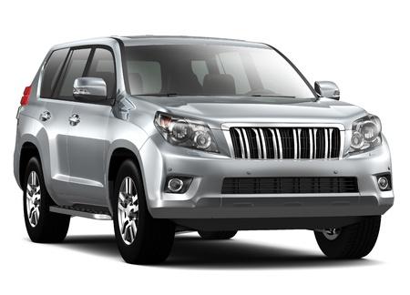 suv: Silver Luxury SUV