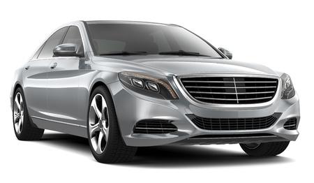銀の高級車