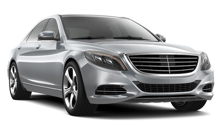 sedan: Silver Luxury Car