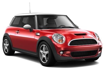 Red economy car