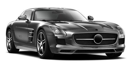 Luxury Black Coupe Stock Photo