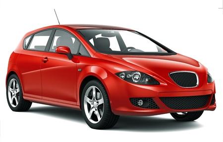 コンパクトな赤い車