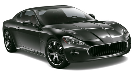 Black sport coupe Stock Photo