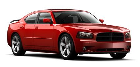 Rode perfomace auto Stockfoto