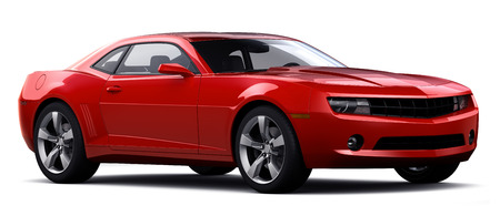 Rode sportwagen Stockfoto