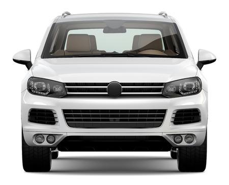 suv: White SUV