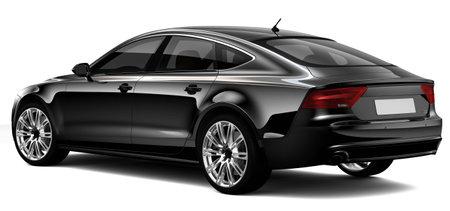 Voiture de luxe noire Banque d'images - 26625178