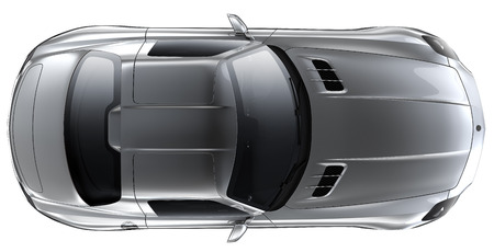Silver roadster - bovenaanzicht