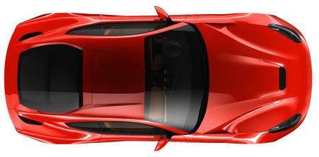 Red coupe - top view  Zdjęcie Seryjne