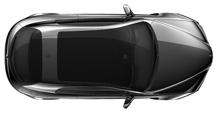 coupe: Black coupe - top view