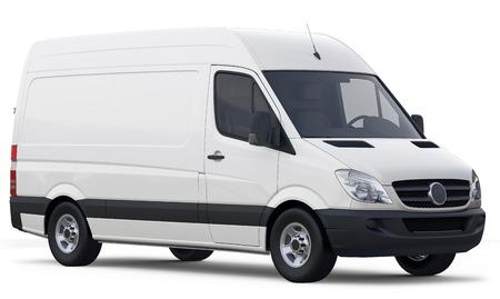 Compacte witte bestelwagen Stockfoto