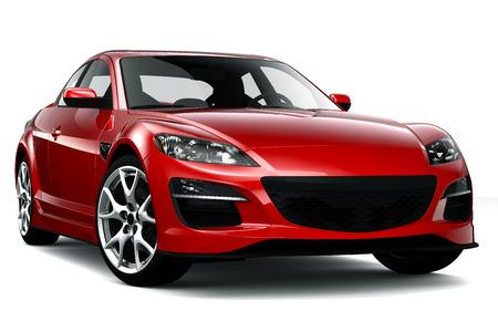 Roadster rojo Foto de archivo - 27534970