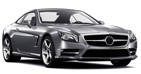 Silber coupe Standard-Bild - 27534971