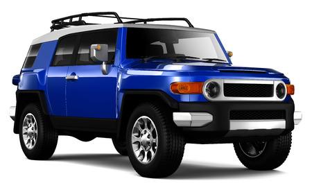 Retro style compact SUV Imagens