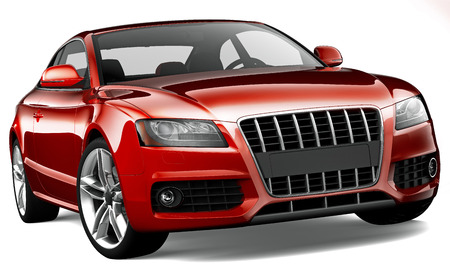 coupe: Red luxury coupe
