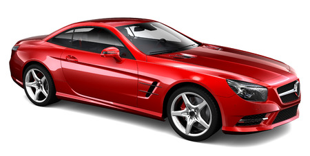 3D Red coupe Stok Fotoğraf