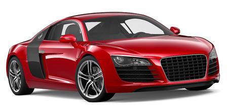 car grill: 3D RED SPORT CAR