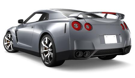 3D SILVER COUPE CAR Фото со стока