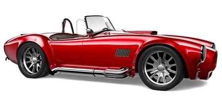 3D Vintage red car