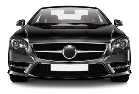 Negro coupé deportivo