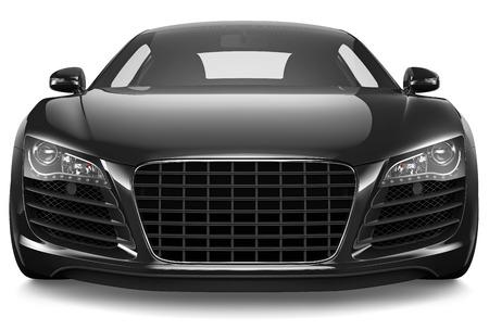 Black sport car Imagens - 30284845