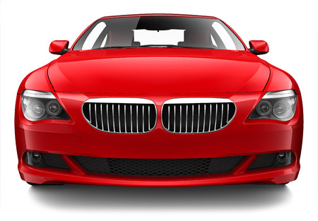 coupe: 3D Luxury red coupe