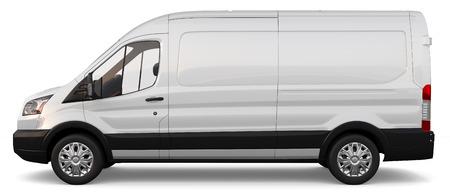 3D Compact white cargo Stock Photo