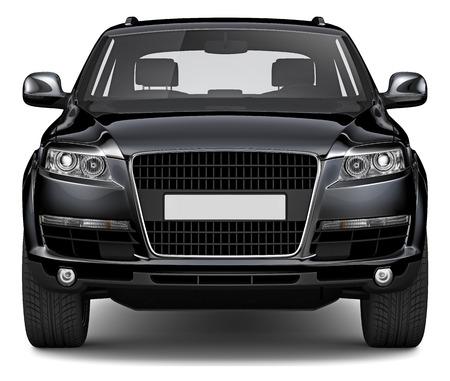 3D BLACK SUV 写真素材